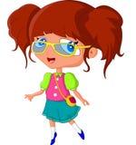Menina bonito dos desenhos animados Foto de Stock