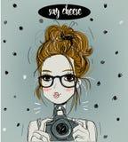 Menina bonito dos desenhos animados Foto de Stock Royalty Free