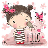 Menina bonito dos desenhos animados Imagens de Stock Royalty Free