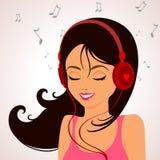 Música da menina Foto de Stock Royalty Free