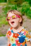 Menina bonito feliz Fotografia de Stock