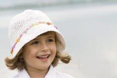 Menina bonito na água Imagem de Stock Royalty Free