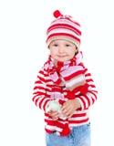 Menina bonito na roupa brilhante imagens de stock royalty free
