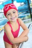 Menina bonito no equipamento da natação Fotos de Stock