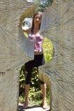 Menina bonito no parque Fotos de Stock