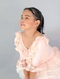 Menina bonito no vestido do bailado Imagens de Stock Royalty Free