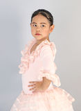 Menina bonito no vestido do bailado Fotografia de Stock