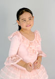 Menina bonito no vestido do bailado Imagens de Stock
