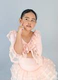 Menina bonito no vestido do bailado Fotos de Stock