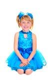 Menina bonito no vestido do salão de baile fotografia de stock