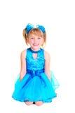 Menina bonito no vestido do salão de baile foto de stock