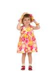 Menina bonito no vestido do verão Fotos de Stock Royalty Free