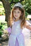 Menina bonito no vestido extravagante Imagem de Stock