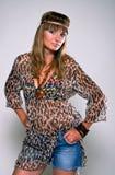 Menina brilhante 1 do hippie Imagens de Stock