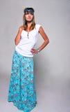 Menina brilhante do hippie Fotos de Stock Royalty Free