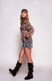 Menina brilhante do hippie Imagens de Stock Royalty Free