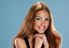 Menina bronzeado da pele imagem de stock royalty free