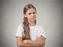 Menina cética do adolescente Fotografia de Stock
