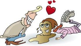 Menina caída no amor com menino Imagem de Stock Royalty Free