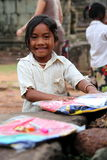 Menina cambojana feliz Imagens de Stock Royalty Free