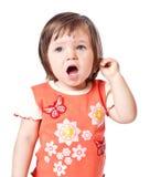 A menina canta Fotos de Stock