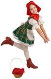 A menina - a capa de equitação vermelha pequena. Imagens de Stock