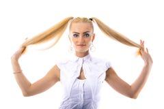 Menina caucasiano bonita nova Foto de Stock