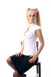Menina caucasiano bonita nova Imagens de Stock