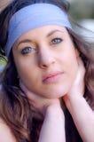 Menina caucasiano nova bonita no parque Imagens de Stock Royalty Free