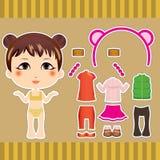 Menina chinesa da forma Fotografia de Stock Royalty Free