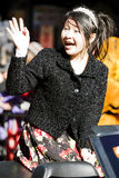 Menina chinesa da parada do ano novo Imagens de Stock Royalty Free