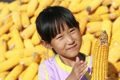 Menina chinesa feliz Imagens de Stock Royalty Free