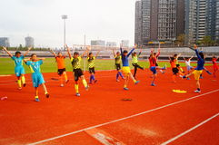 Menina chinesa no treinamento Fotografia de Stock