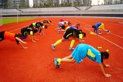 Menina chinesa no treinamento Fotos de Stock Royalty Free