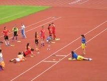 Menina chinesa no treinamento Imagens de Stock Royalty Free