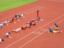 Menina chinesa no treinamento Imagem de Stock Royalty Free
