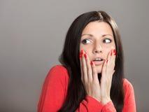 Menina chocada Fotografia de Stock Royalty Free