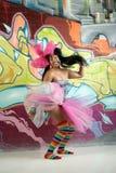 Menina colorida fotografia de stock royalty free