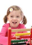 Menina com ábaco foto de stock royalty free
