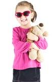 Menina com óculos de sol Fotografia de Stock Royalty Free