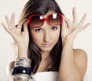 Menina com óculos de sol fotos de stock royalty free