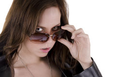 Menina com óculos de sol Imagem de Stock Royalty Free
