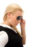 Menina com óculos de sol Fotografia de Stock
