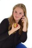 Menina com appel Imagens de Stock
