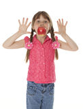 Menina com Apple Imagem de Stock