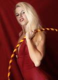 Menina com aro do hula imagens de stock royalty free