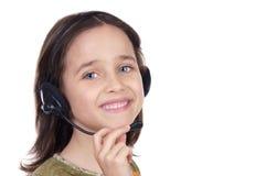 Menina com auriculares Fotos de Stock