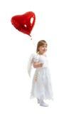 Menina com balão Imagens de Stock Royalty Free