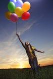 Menina com balão imagem de stock royalty free