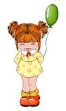 Menina com balão ilustração stock